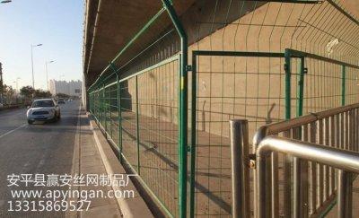 立交桥下安装护栏网,禁止入内