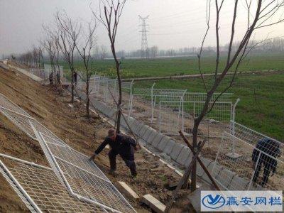 高速护栏网施工图例