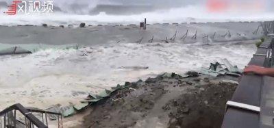 超强台风山竹来袭 护栏网能否经受住冲击