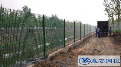 湖北水渠河道护栏网安装施