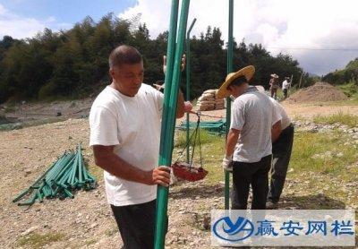山西忻州光伏电站围栏网安装施工现场