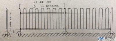 京式交通護欄圖紙