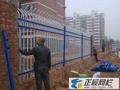 德州小区安装锌钢护栏案例