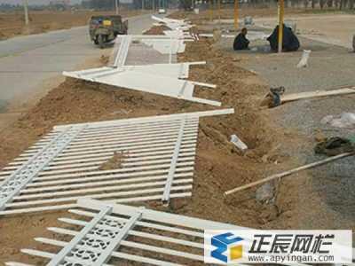 甘肃圈地锌钢护栏施工案例