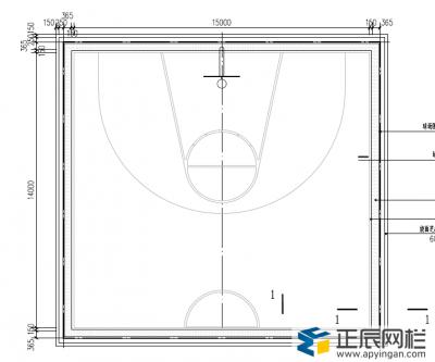 篮球场围网图纸