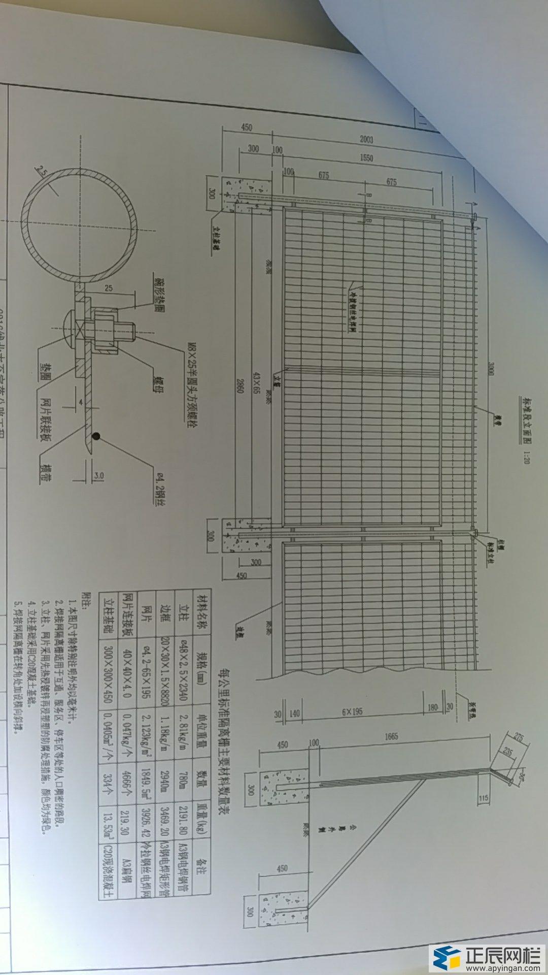 高速公路护栏网图纸图片